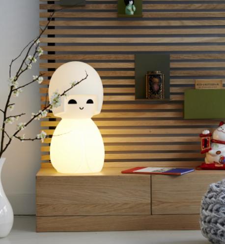 Déco noël lampe kokeshi source absolument design