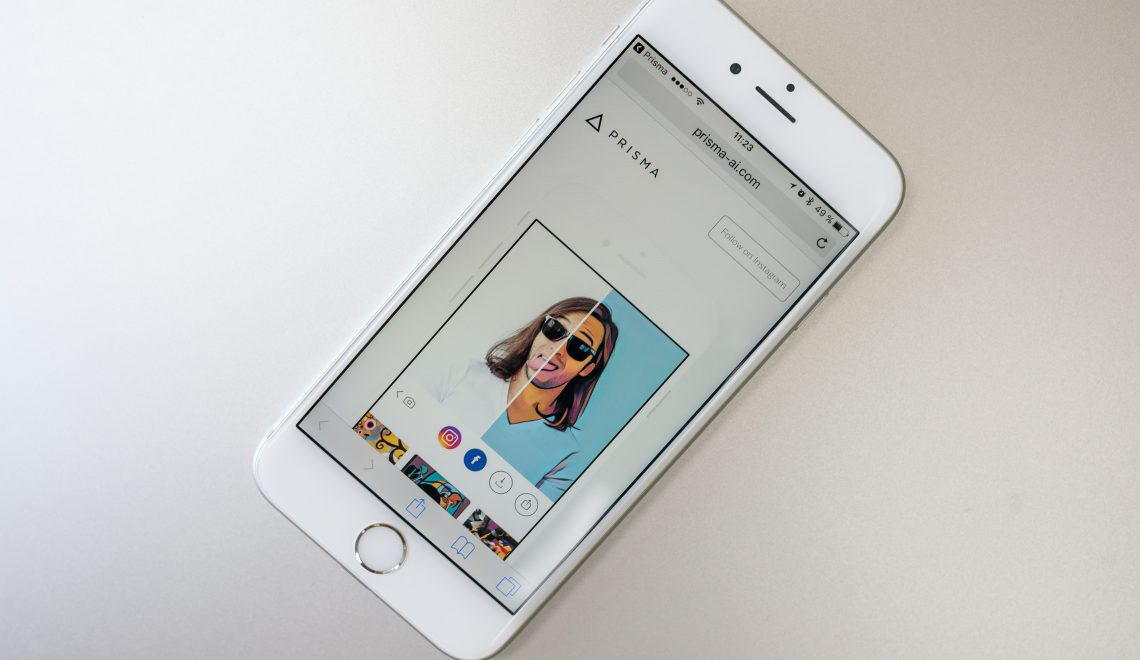 Prisma application photo