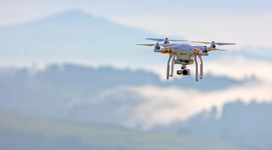 Photographie aérienne avec un drone